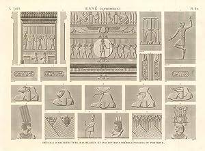 Esnè (Latopolis) - Details d'architecture, bas-reliefs et: Panckoucke C.L.F. edit.