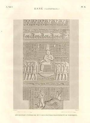 Esnè (Latopolis) - Dècoration intérieure d'un mur: Panckoucke C.L.F. edit.