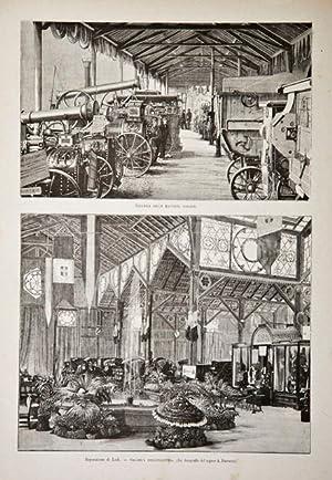 Esposizione di Lodi / Galleria dell'industria / Galleria delle macchine agrarie: Ferrario A. ...
