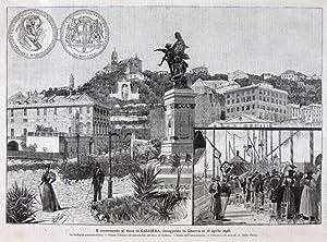 Il monumento al duca di Galliera, inaugurato in Genova ai 12 Aprile 1896: Della Valle A.