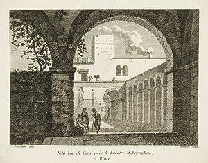 Intérieur de Cour près le Thèatre d'Argentine,: Bourgeois Constant dis.