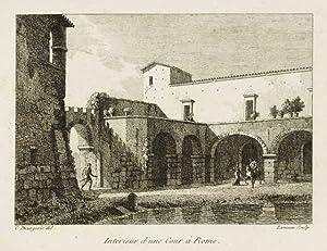 Intérieur d'une cour à Roma: Bourgeois Constant dis.