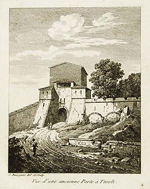Vue d'une ancienne Porte à Tivoli: Bourgeois Constant dis.