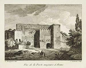 Vue de la Porte majeure à Rome: Bourgeois Constant dis.