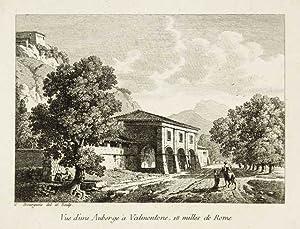 Vue d'une auberge à Valmontone, 18 milles: Bourgeois Constant dis.