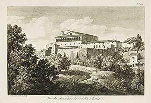 Vue du Monastere de St. Saba à: Bourgeois Constant dis.