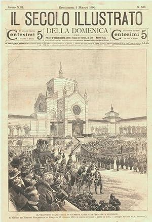 Il trasporto delle salme di Giuseppe Verdi: Bonamore A. dis.