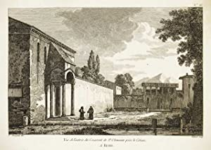 Vue de l'entrée du Couvent de St.: Bourgeois Constant dis.