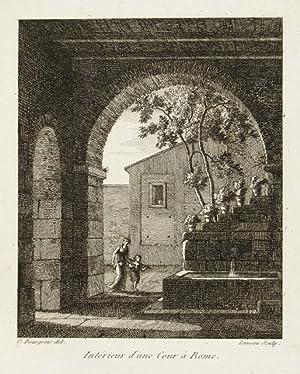 Intérieur d'une cour a Rome: Bourgeois Constant dis.