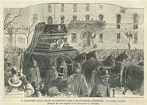 Il trasporto delle salme di Giuseppe Verdi: Linzaghi C. dis.