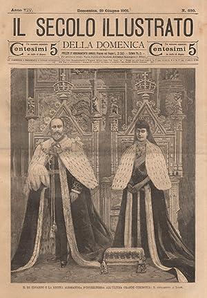 Il re Edoardo e la regina Alessandra d'Inghilterra all'ultima grande cerimonia: Il ...