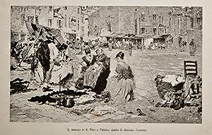 Il mercato di S. Polo a Venezia,: Favretto Giacomo