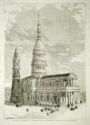 Novara - Cupola e campanile di San: Bonamore A. dis.