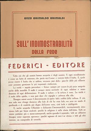 Sull'indimostrabilità della fede dialogo e risposte: Grimaldi Enzo Grimaldo
