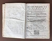 Io. Benedicti Sinibaldi Leonissani.Geneanthropeiae siue De hominis: SINIBALDI Giovanni Benedetto