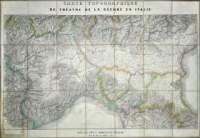 Carte topographique / du theatre de la: Andriveau E -