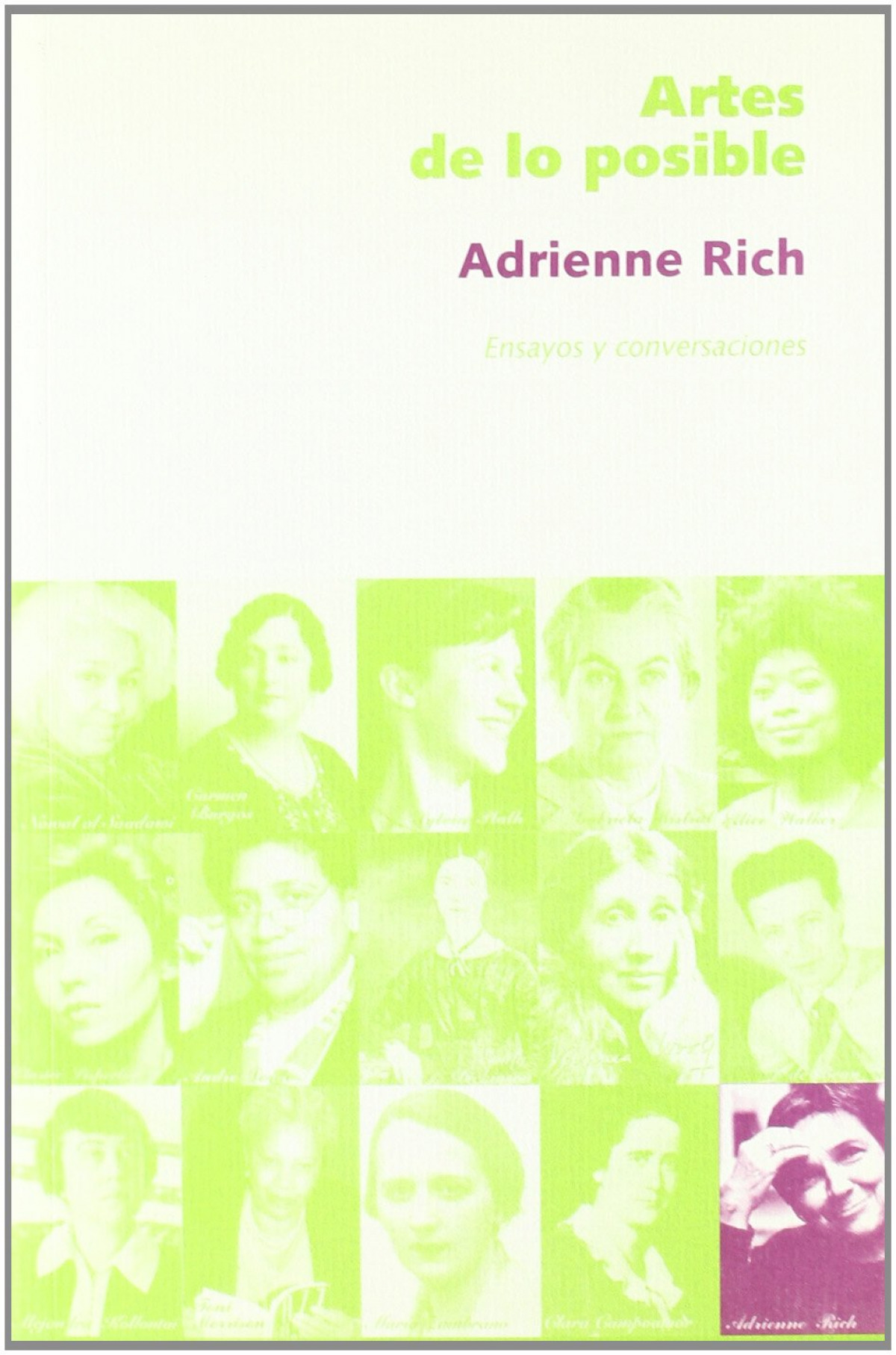 essays by adrienne rich Based on adrienne rich's background i believe aunt jennifer did exist however, aunt jennifer was not rich's aunt aunt jennifer represented women all over the world, particularly women in american, who were caught under the oppressive hand of a patriarchal society.