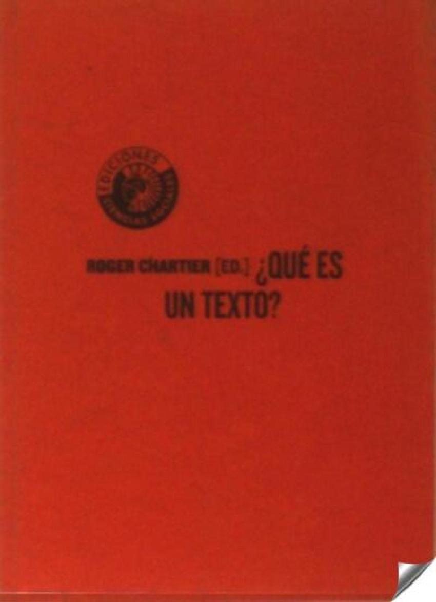 Que es un texto - Chartier, Roger