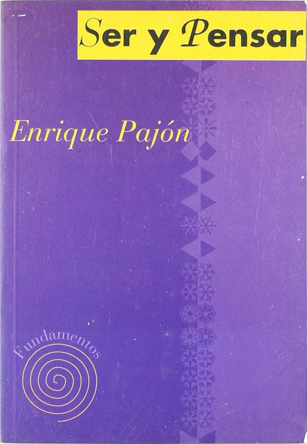 Ser y pensar - Pajon, Enrique