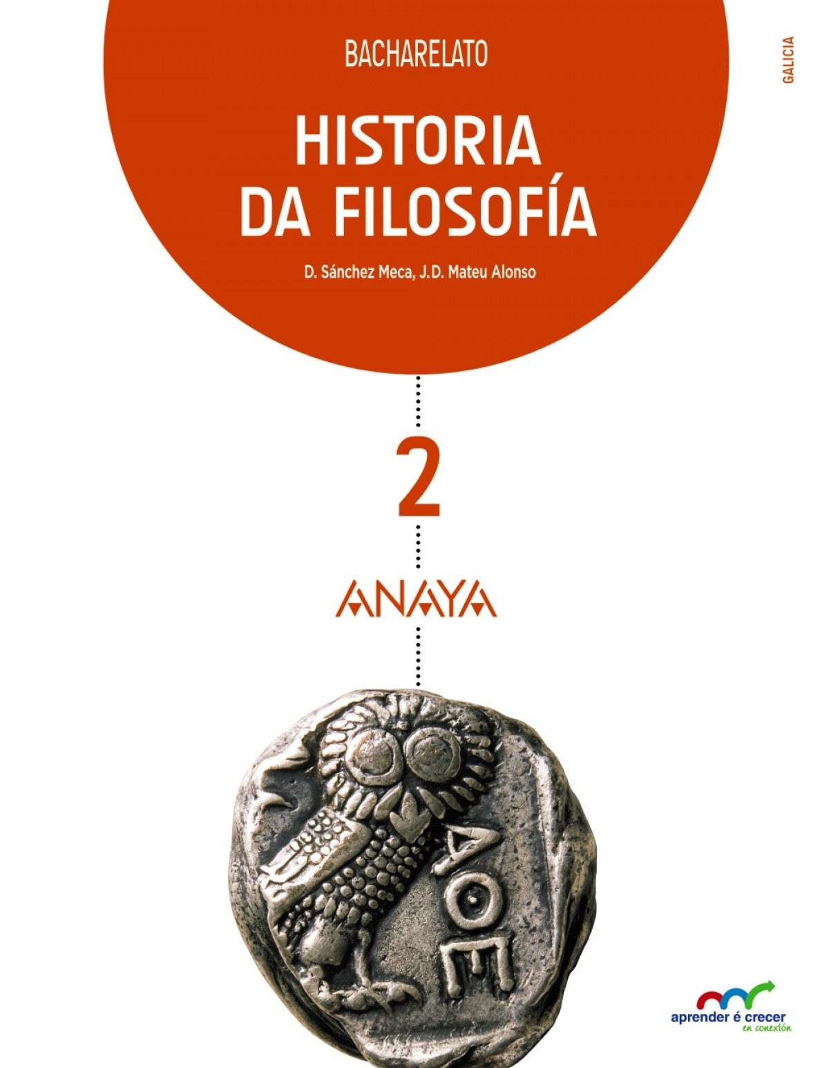 g).(16).historia filosofia 2ºbach.(aprender crecer)*galego - Aa.Vv.