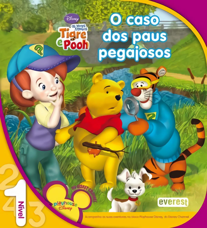 Os meus amigos tigre e pooh: o caso dos paus pegajosos: leitura nÍvel 1 - Vv.Aa.