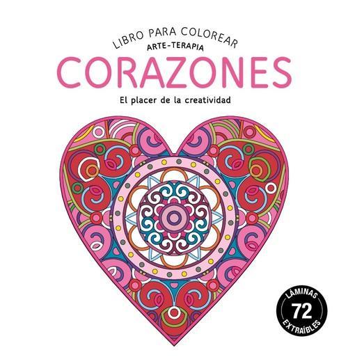 Corazones libro para colorear. arte-terapia - vv.aa.