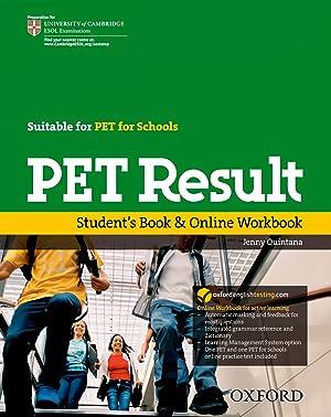 10).pet result +online workbook +practice test: Quintana, Jenny