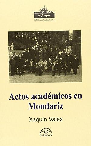 Actos académicos en Mondariz: Vales Rodríguez, Xaquín