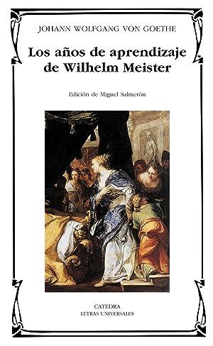 Los años de aprendizaje de Wilhelm Meister: Goethe, Johann Wolfgang von