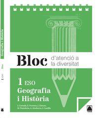 cat).(15).bloc geografia historia 1r.eso: Vv.Aa