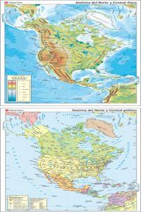 Mapa mural america norte-central