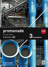 Promenade A2 Livre) 3ºESO Frances: Aa.Vv.