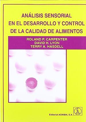 Analisis sensorial derrallo y control calidad de: Carpenter Roland P.
