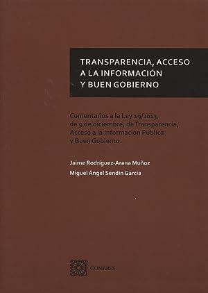 Transparencia, acceso a la informacion y buen: Rodriguez-arana Muñoz, Jaime