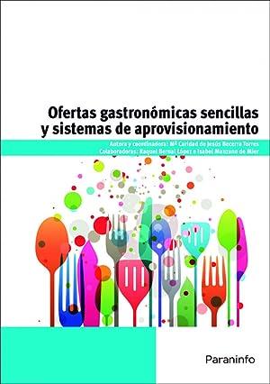 Ofertas gastronomicas sencillas y sistemas de aprovisionamiento: Becerra Torres, María
