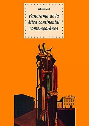 Panorama de la ética continental contemporánea: De Zan, Julio