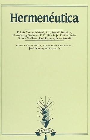 Hermenéutica: Domínguez Caparrós, José