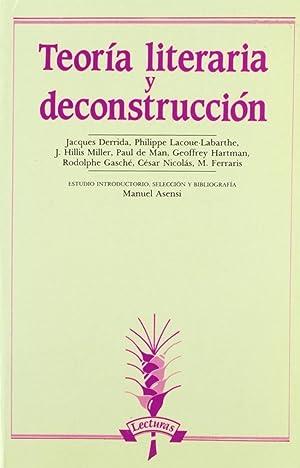 Teoría literaria y deconstrucción: Asensi, Manuel