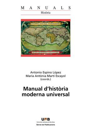 Manual d historia moderna universal: Espino Lopez, Antonio