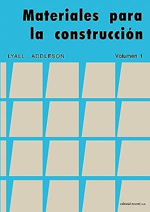 Materiales para la construccion (vol.1): Addleson,L.