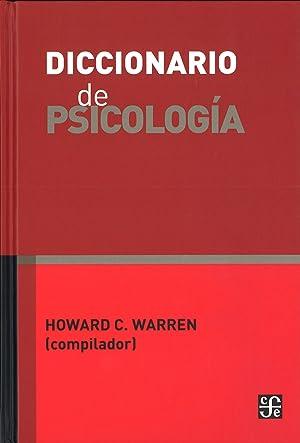 Diccionario de psicología: Warren, Howard C.
