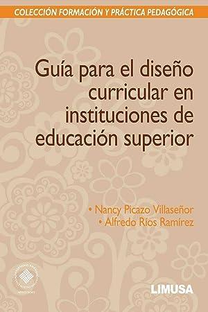Guia diseÑo curricular en instituciones: Picazo, Nancy