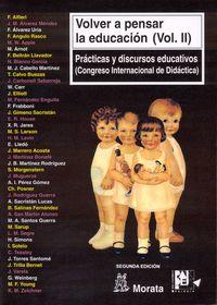 Volver a pensar educacion, 2: Vv.Aa.