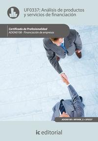 Análisis de productos y servicios de financiación. adgn0108 - financiación de ...