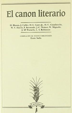 El canon literario: Bloom, Harold