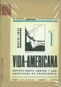 Vida americana, revista norte y revista norte centro y sudamericana de vanguardi