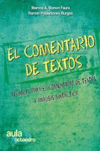 11.COMENTARIO TEXTOS.TECNICAS Y ANALISIS SINTACTICO.(AULA) Técnicas para el comentario de ...