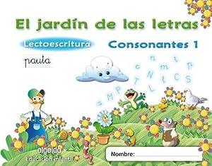 11).JARDIN LETRAS 1 *PAUTA* CONSONANTES.(LECTOESCRITURA) Lectoescritura pauta: Campuzano Valiente, María