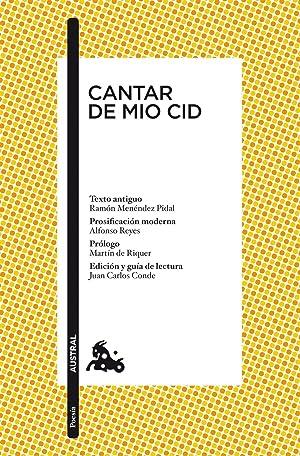 Cantar de Mio Cid: Anónimo