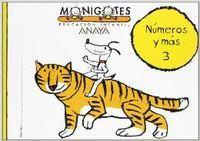 Numeros y mas 3.(cuadernos monigotes)(5 anos): Anaya Educación